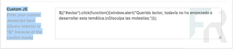 Ejemplo de uso de la instrucción noConflict()