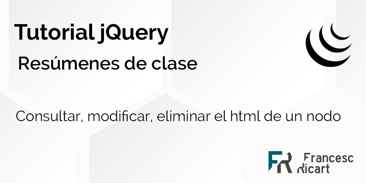 consultar y modificar html con jquery