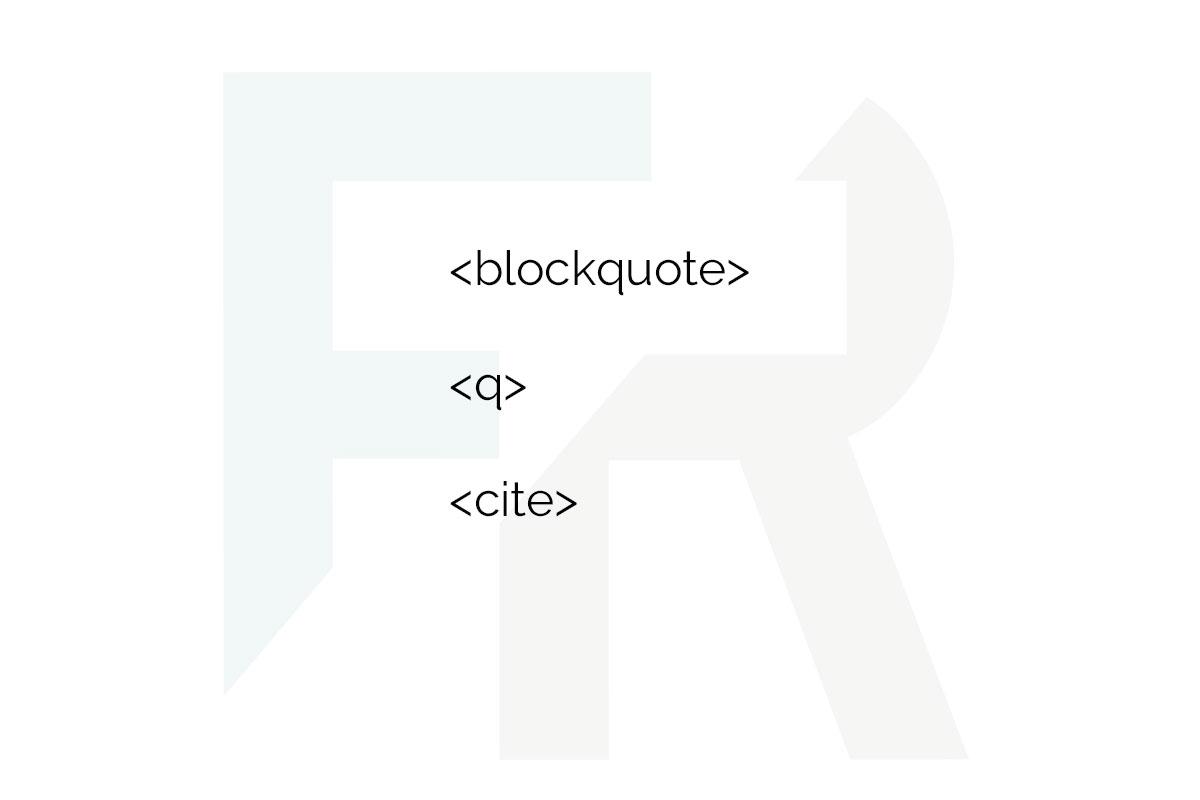 etiquetas html bockquote cite q