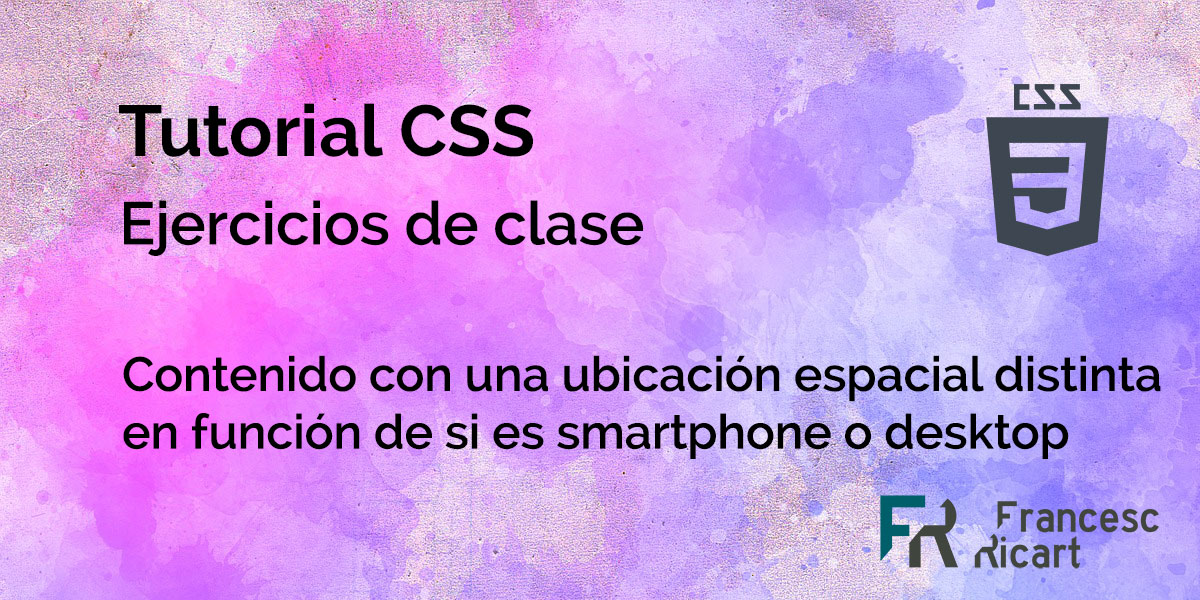 ejercicio css media queries