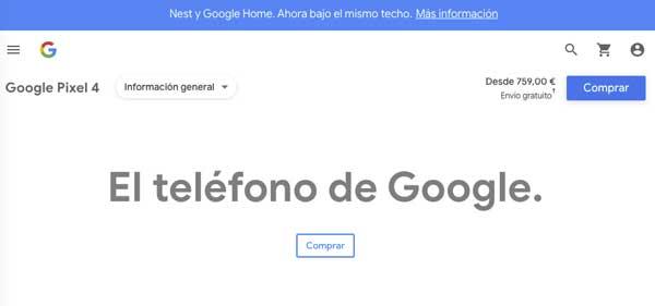 publicidad píxel 4 google. Desde 759€ con envío gratuito.