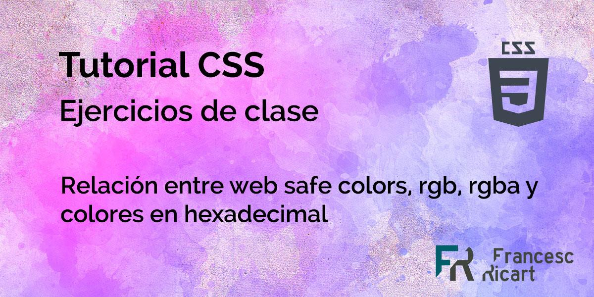 ejercicio sobre colores web