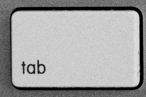 tecla tab del teclado