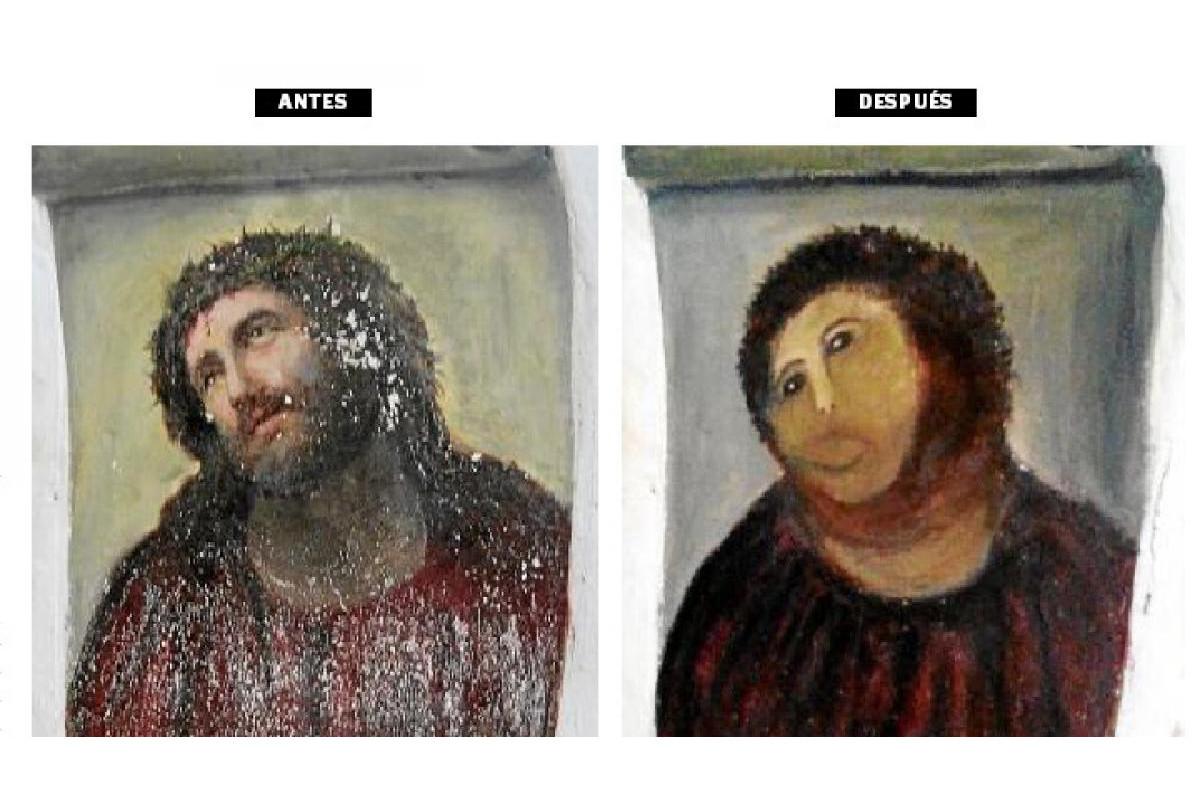 restauración fallida obra de arte