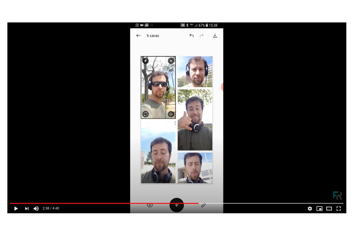 ejemplo de uso de la app unfol