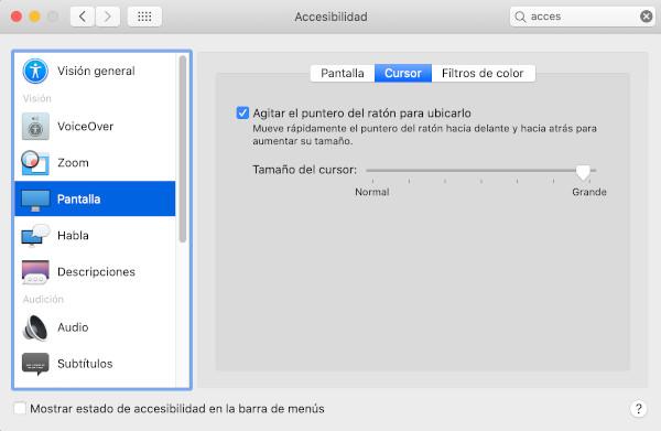 Opciones para mostrar el cursor en remoto si tienes Mac 1