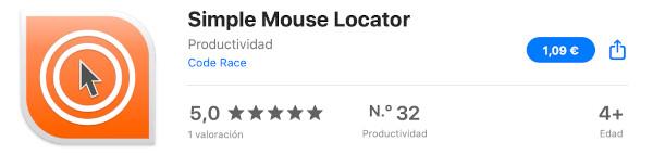Simple Mouse Locator en la AppStore