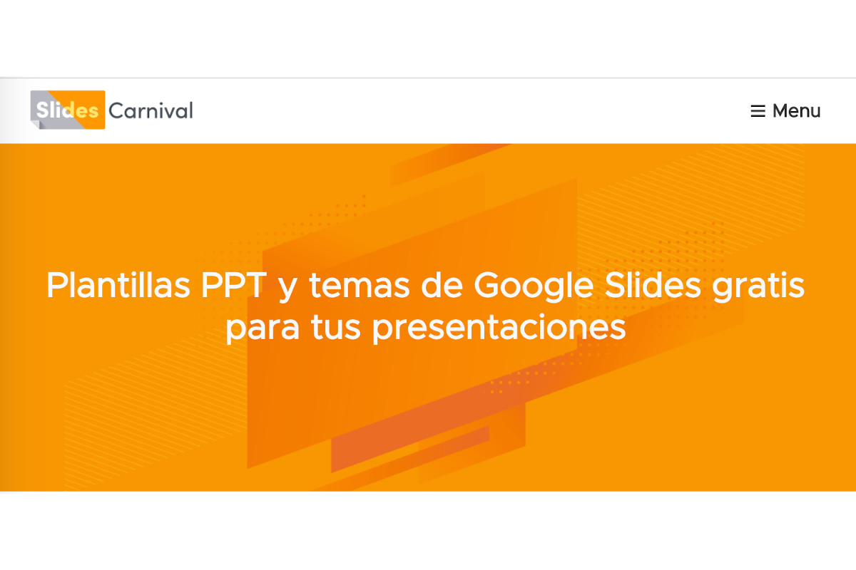 SlidesCarnival, repositorio de plantillas para google slides y ppt 1