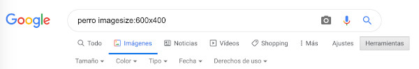 Cómo hacer búsquedas de imágenes por tamaño exacto en Google 1