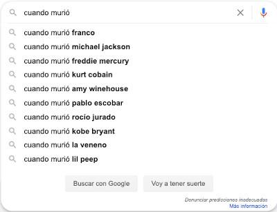 Resultados divertidos en Google Instant 9