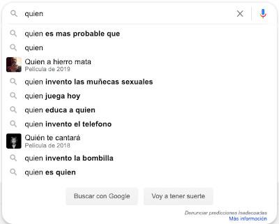 Resultados divertidos en Google Instant 8